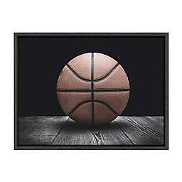 DesignOvation Sylvie Vintage Basketball Framed Canvas Wall Art