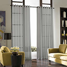 Curtainworks© Soho Voile 120-Inch Grommet Window Curtain Panel in Silver