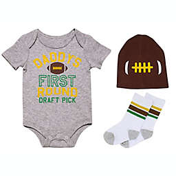 Baby Starters® BWA® Size 4-Piece Daddy's First Round Draft Pick Bodysuit Set