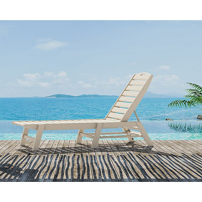 Alternate image 1 for POLYWOOD® Nautical Stackable Chaise