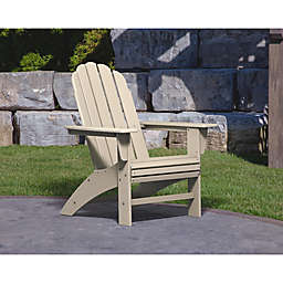 POLYWOOD® Vineyard Curveback Adirondack Chair in Sand