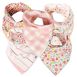 The Honest Company® 5-Pack Meadow Floral Reversible Bandana Bibs
