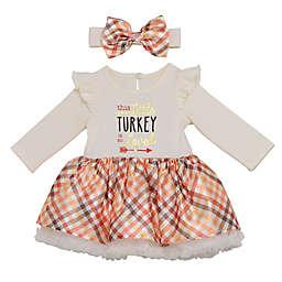 Baby Starters® 2-Piece Loved Little Turkey Thanksgiving Dress and Headband Set