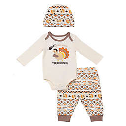 Baby Starters® 3-Piece Gobble Touchdown Thanksgiving Pant, Bodysuit, and Hat Set