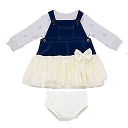 Baby Starters® 3-Piece Dress, Sweater, and Diaper Cover Set in Grey