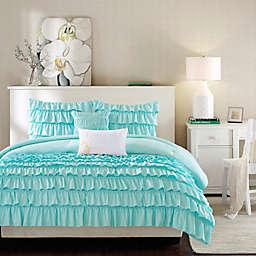 Intelligent Design Waterfall Reversible Comforter Set in Blue