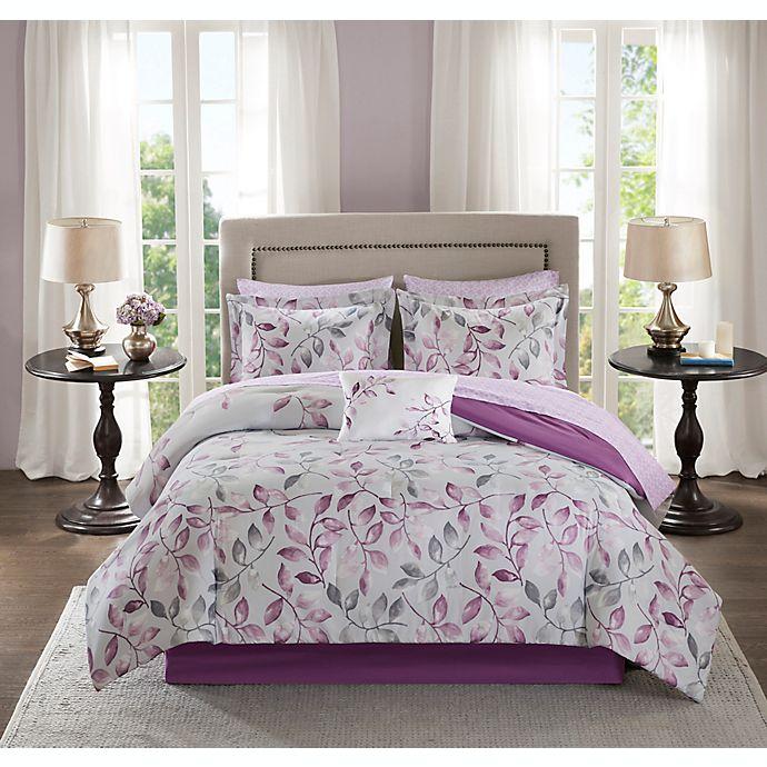 Alternate image 1 for Madison Park Essentials Lafael 9-Piece King Comforter Set in Purple