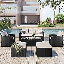 Boyel Living™ 6-Piece Patio Conversation Set in Grey/Beige