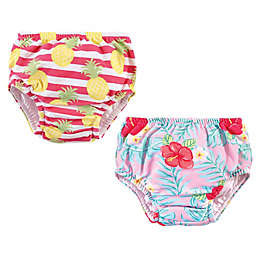 Hudson Baby® 2-Pack Tropical Floral Swim Diapers
