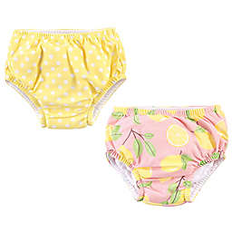 Hudson Baby® 2-Pack Swim Diapers in Pink/Yellow