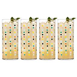 Libbey® Glass Vintage Party Dots Cooler Glasses (Set of 4)
