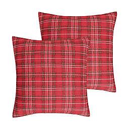 Levtex Home Yuletide European Pillow Sham in Red (Set of 2)