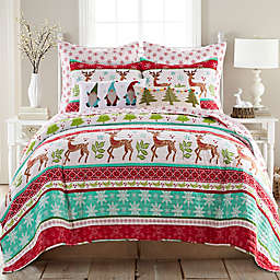 Levtex Home Let It Snow 3-Piece Reversible King Quilt Set in Red