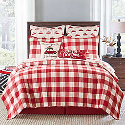 Levtex Home Road Trip 2-Piece Reversible Twin Quilt Set in Red