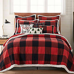 Levtex Home Thatch Home Buffalo Peak Reversible Flannel Quilt in Red