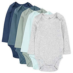 The Honest Company® 5-Pack Morning Mountains Organic Cotton Long Sleeve Bodysuits