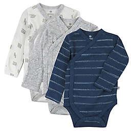 The Honest Company® 3-Pack Stripe Multi Side Snap Kimono Bodysuits
