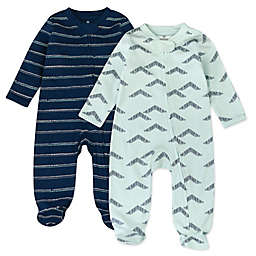 The Honest Company® 2-Pack Dotted Stripe Organic Cotton Sleep & Plays in Navy