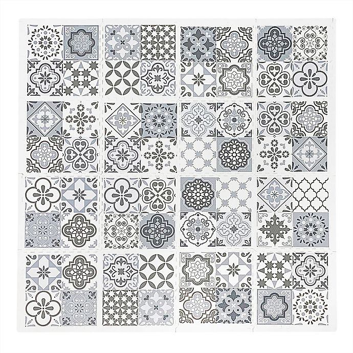 Alternate image 1 for Tadpoles™ Tile 16-Piece Playmat Set in Grey