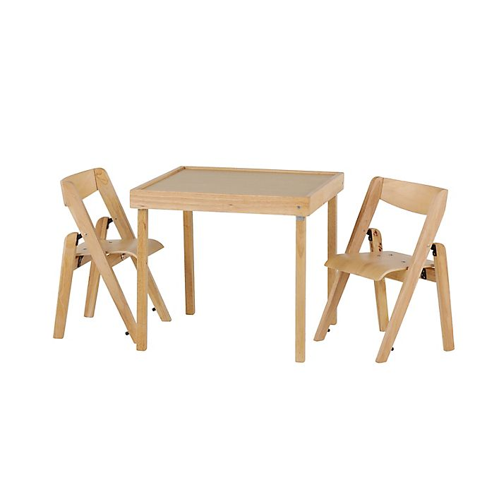 Alternate image 1 for Stakmore Juvenile 3-Piece Folding Table Set in Natural