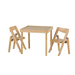 Stakmore Juvenile 3-Piece Folding Table Set in Natural