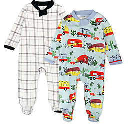 The Honest Company® Size 6-9M 2-Pack Road Trip Organic Cotton Sleep & Plays