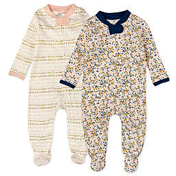 The Honest Company® Size 6-9M 2-Pack Pencil Dash Organic Cotton Sleep & Plays in Pink
