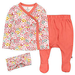 The Honest Company® 3-Piece Meadow Floral Top, Pant and Headband Set in Blush