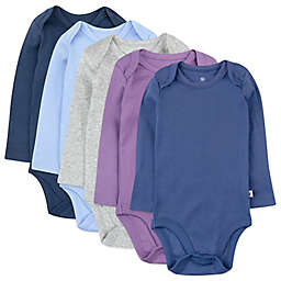 The Honest Company® 5-Pack Organic Cotton Long Sleeve Bodysuits in Prairie Pretty