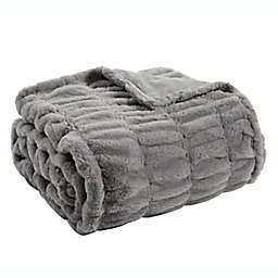 Bee & Willow™ Ruched Throw Blanket in Sharkskin