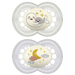 MAM Night 2-Pack Age 6+ Months Glow-in-the-Dark Pacifiers