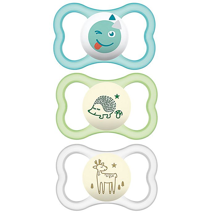 Alternate image 1 for MAM Air Day/Night 6M-12M 3-Pack Pacifiers
