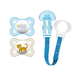 MAM Animals 0-6M 3-Pack Pacifiers in Blue