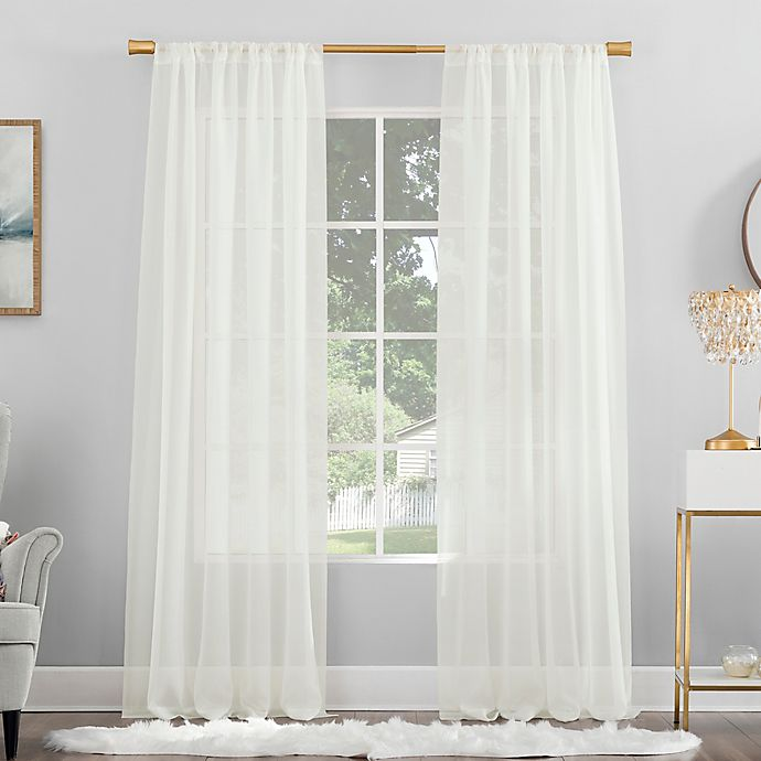 Alternate image 1 for No. 918 Mallory Sheer Voile Rod Pocket Window Curtain Panel