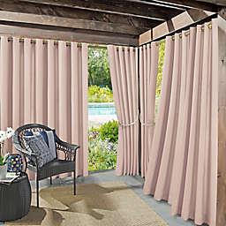 Sun Zero Sailor Indoor/Outdoor Room Darkening 84-Inch Grommet Window Curtain Panel in Rose Quartz