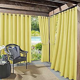 Sun Zero Sailor Indoor/Outdoor Room Darkening 95-Inch Grommet Window Curtain Panel in Yellow