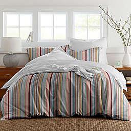 Pointehave Soft Stripes 3-Piece Reversible Duvet Cover Set