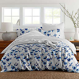 Pointehaven® Water Petals 3-Piece Reversible Duvet Cover Set