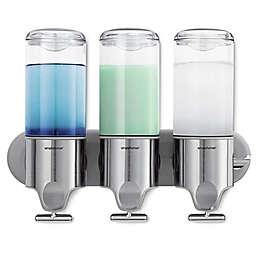simplehuman® Triple Wall Mount Pumps in White