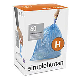 simplehuman® Code H 30-35-Liter Custom-Fit Recyclable Liners in Blue