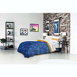Fortnite Llama Reversible Bed in Bag Set in Blue/Grey Camo