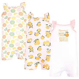 Hudson Baby® Size 18-24M 3-Pack Citrus Sleeveless Rompers in Orange
