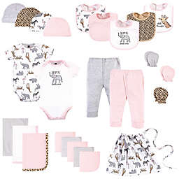Hudson Baby® Size 0-6M 25-Piece Pink Safari Layette Baby Gift Set