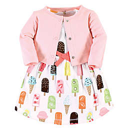 Touched by Nature® Popsicle Organic Cotton Dress and Cardigan Set in Pink
