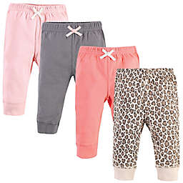 Touched by Nature® Size 5T 4-Pack Organic Cotton Pants in Leopard/Pink/Grey