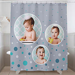 Photo Bubbles Personalized Shower Curtain
