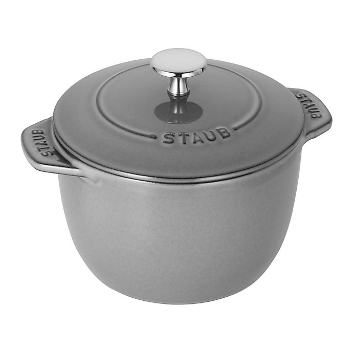 Alternate image 1 for Staub 1.5 qt. Cast Iron Petite French Oven in Grey