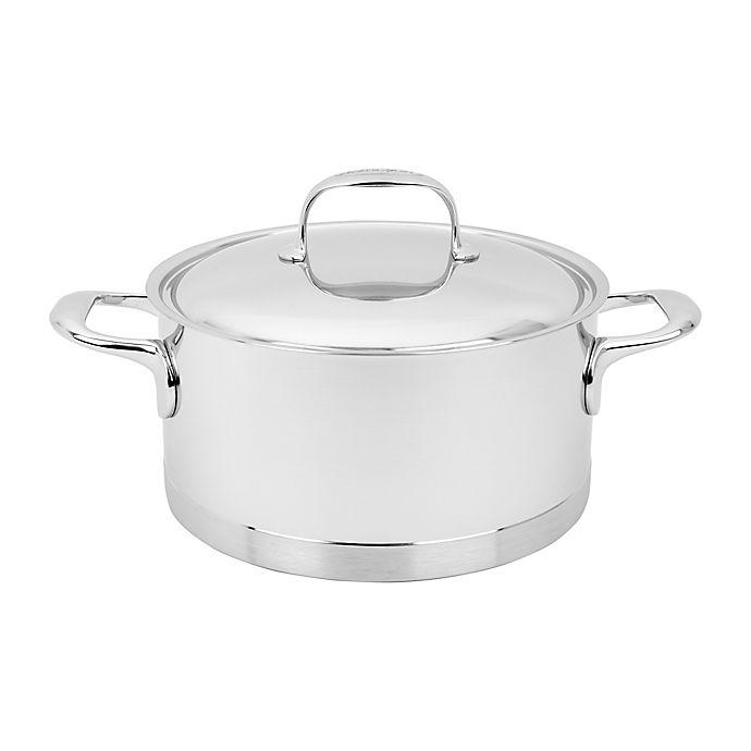 Alternate image 1 for Demeyere Atlantis 4.2 qt. Stainless Steel Covered Sauce Pot