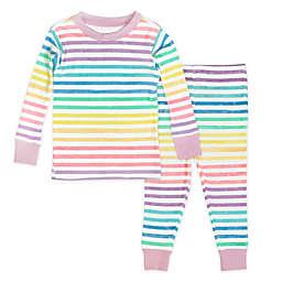 The Honest Company® 2-Piece Rainbow Stripe Organic Cotton Pajama Set