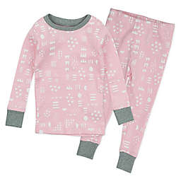The Honest Company® 2-Piece Pattern Play Organic Cotton Pajama Set in Pink/White